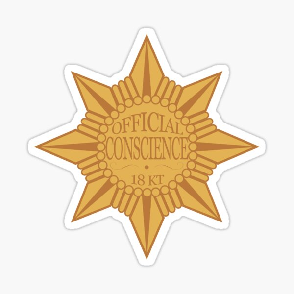 Let Your Conscience Be Your Guide Sticker
