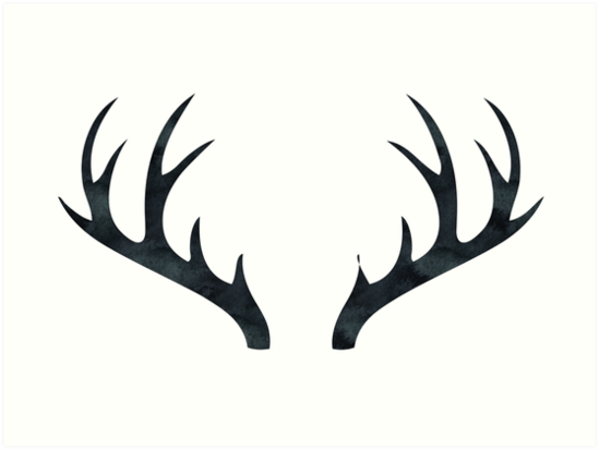 Antlers rustic decor black and white deer antlers by naturemagick