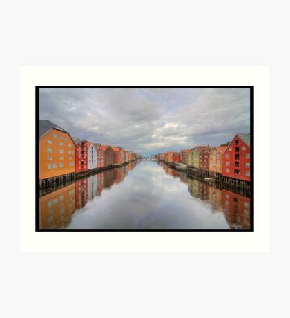 Trondheim - Nidelva Art Print