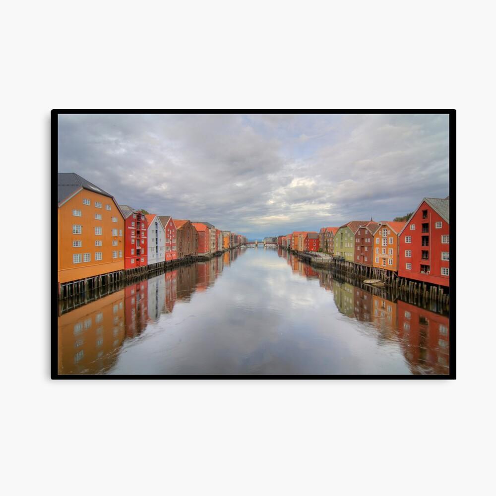 Trondheim - Nidelva Canvas Print