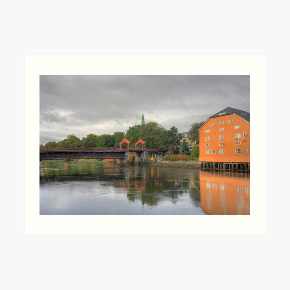Trondheim - Gamle Bybro Art Print