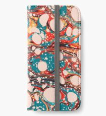 Psychedelic Marbled Paper Splash Blob Pepe Psyche iPhone Wallet