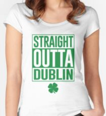 Straight Outta Dublin Women's Fitted Scoop T-Shirt