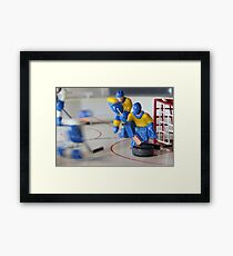 attack ice hockey table game Framed Print