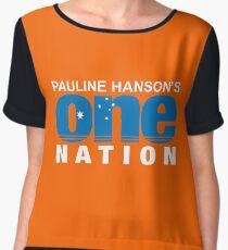 Pauline One Nation Chiffon Top