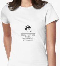 From Now On Until Darkness Claims Us Women's Fitted T-Shirt