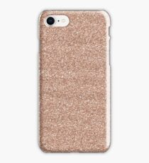 Rose Gold Glitter - Glittery Pink Metallic Glitter iPhone Case/Skin