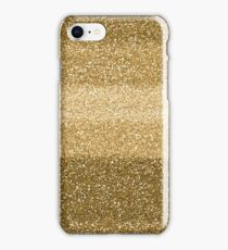 Glitter Glittery Yellow Gold Glitter iPhone Case/Skin