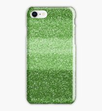 Green Glitter Glittery Bright Green Glitter iPhone Case/Skin