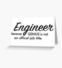 Engineer Greeting Card