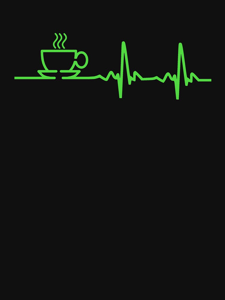 Morning Coffee Heartbeat EKG | Unisex T-Shirt
