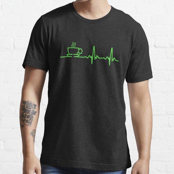 Morning Coffee Heartbeat EKG Essential T-Shirt