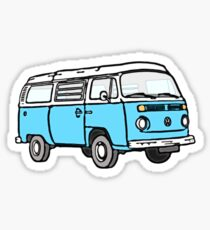 Bay Window Campervan Blue Sticker