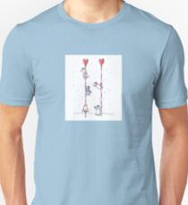 Kawaii Style Pole Dancing Penguins T-Shirt