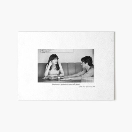500 Days of Summer Art Board Print