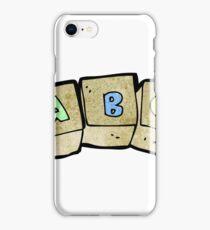 cartoon letter blocks iPhone Case/Skin