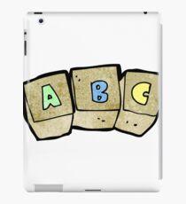 cartoon letter blocks iPad Case/Skin