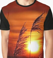 Sunset with Reed Graphic T-Shirt