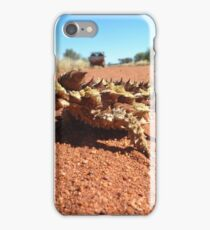 Thorny Devil on red sand iPhone Case/Skin
