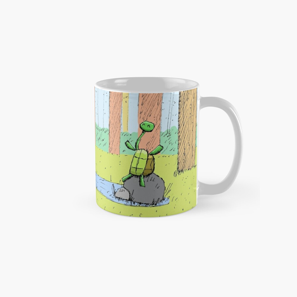 Cute Long Necked Turtle Illustration Mug