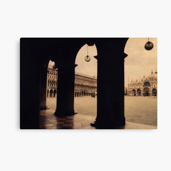 Venice in pink fog Canvas Print