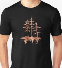 THE THREE SISTERS -  Rose Gold Pink Vintage Forest Adventure Art T-Shirt