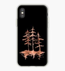 THE THREE SISTERS -  Rose Gold Pink Vintage Forest Adventure Art iPhone Case