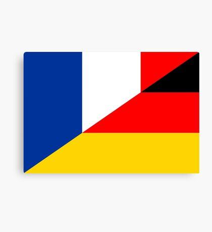 france germany flag Canvas Print