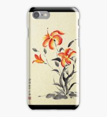 Tiger Lily - red iPhone Case/Skin