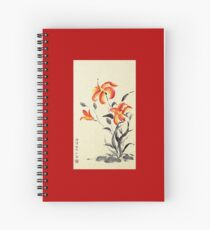 Tiger Lily - red Spiral Notebook