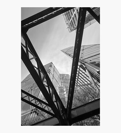 London City Girders and Tall Finance Buildings Photographic Print