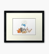 Home is where the cats are Framed Print