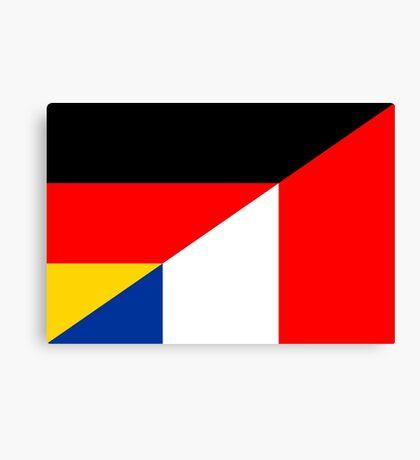germany france flag Canvas Print