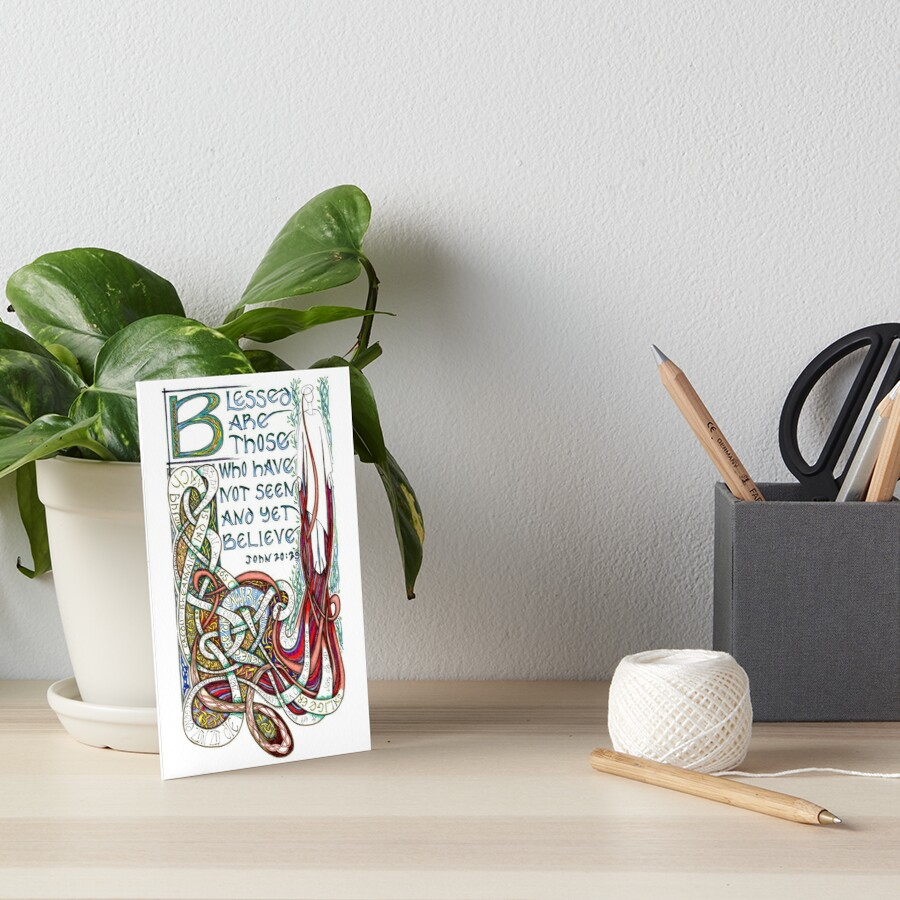 Blessed Are Art Board Print