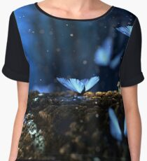 Blue Butterflies (Holly Blue) Chiffon Top
