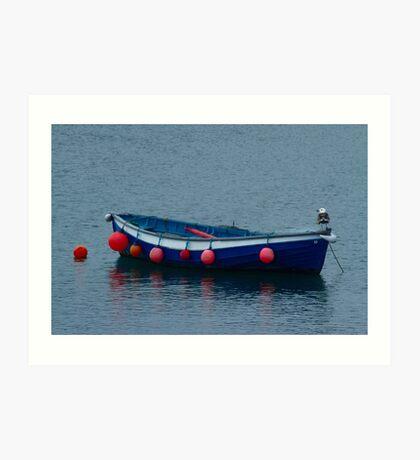 Little Blue Boat Art Print