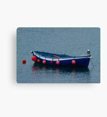 Little Blue Boat Canvas Print