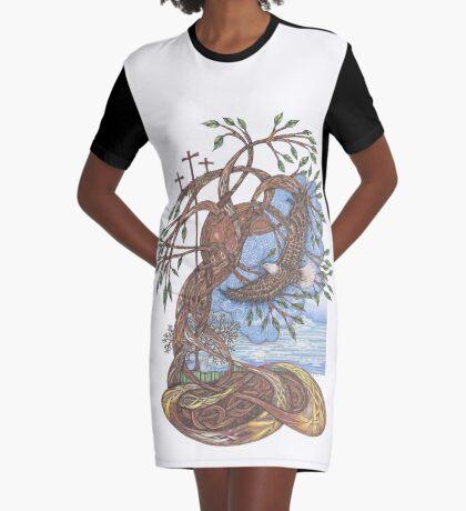 Faith, Hope and Eternal Love Graphic T-Shirt Dress