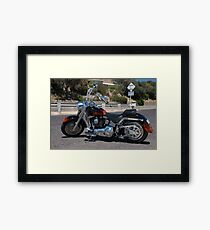 Harley Davidson Fatboy Framed Print