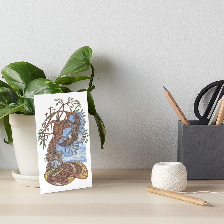 Faith, Hope and Eternal Love Art Board Print