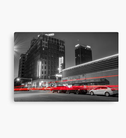 Passing Through - Amarillo Texas - Selective Coloring Canvas Print