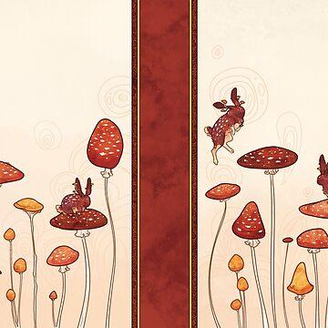 Mushroom Bunny by rachellynnart