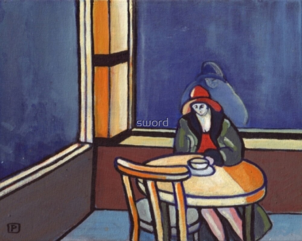 All alone ???  (from my original painting) by sword