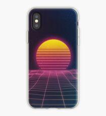 Prokapitalistischer Vaporwave-Sonnenuntergang iPhone-Hülle & Cover