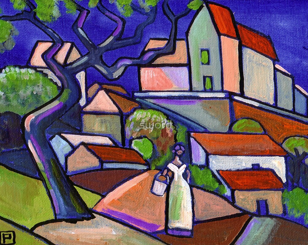 South of France (from my original acrylic painting) by sword