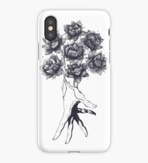 Hand with lotuses iPhone Case/Skin
