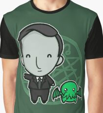 HP Lovecraft and Friend Graphic T-Shirt