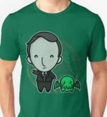 HP Lovecraft and Friend Unisex T-Shirt