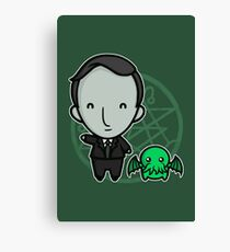 HP Lovecraft and Friend Canvas Print