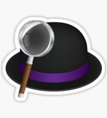 Alfred's hat & magnifying glass Sticker